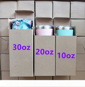 30 20 10 oz cups Stainless Steel Tumbler 30oz 12oz Travel Double Wall Mugs Camo Glitter Color Punisher Skull Two Tone Galaxy