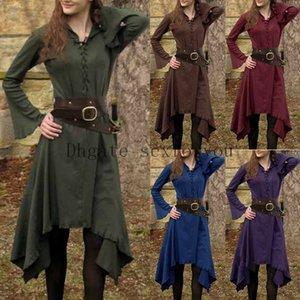 Kadınların Ortaçağ Günlük Elbise Yetişkin Ortaçağ Cosplay Ortaçağ Rönesans Gotik Performans Giyim Cadılar Bayramı kostümü