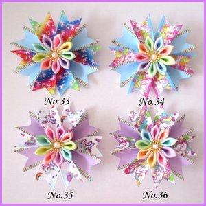 "50 Girl 3.5"" Fairy Hair Bow Clip B- Unicorn Flower happy Lo Dol Surp Baby Y200710"