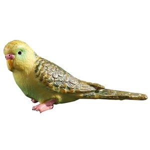 Decorative simulazione Parrot, artificiale figure in miniatura modello animale Uccelli, Artigianato Uccello Per la casa ornamenti, blu / verde (verde) C19041601
