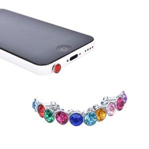 3,5-mm-Kristallrhinestone-Diamant Anti-Staub-Stecker für iPhone Samsung Kopfhörer Jack Stecker Handy-Kopfhörer Zubehör