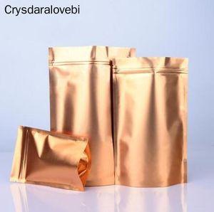 Ouro cor do ouro Stand Up Folha de alumínio saco saco de café Embalagem Sacos bolsas