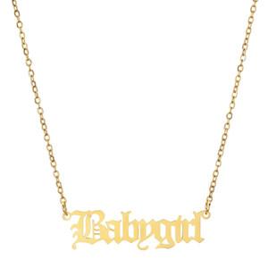 Edelstahl Babygirl Halskette Silber Goldketten Babygirl Anhänger Frauen Halskette Freundin Modeschmuck Geschenk Will und Sandy Neue