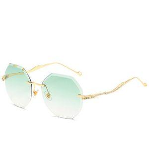 Frameless Sunglasse Peekaboo Luxury Designer Rimless Sunglasses Women Rhinestone 2019 Women Clear Lens Sun Glasses Female Gift Uv400 bwkf sw
