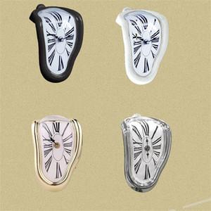 الرومانية الشكل ساعات البلاستيك التعميم تشويه ووتش ساعة الحائط الرجعية الانحناء بيل فندق العرض الجدول ركن الديكور 18wy C2