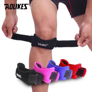 Günstige Elbow Pads 1PCS Verstellbare Knie Patellarsehne Stützbügel Band-Knie-Stützklammer-Pads für Laufen Basketball im Freien Sport