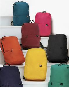 Xiaomi youpin modaya Katı Renk sırt çantası Hafif Suya dayanıklı sırt çantası 10L Seviye 4 Su İtici Omuz Çantası
