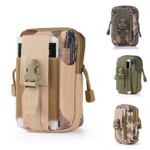Sac téléphone portable pour homme Molle Sac de taille Ceinture Paquet Hanging Camouflage Sport Accessoires de haute qualité 7 5JS H1