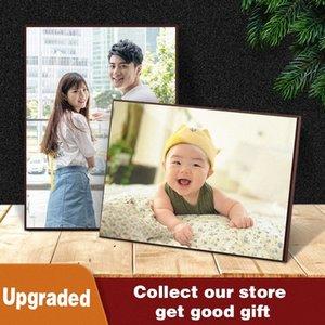 Сшитого Кристалл Photo Frame Set Photo Display Shelf Wall Art Picture Подходит для Свадебных фотографий Домашнего украшения Практической Kchs #