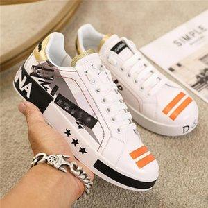 Dolce & Gabbana Limitee Top qualité ан CUIR налить Hommes occasionnels Imprimer пара Modele Chaussures де спорта Sauvage personnalité де-ла-режиме