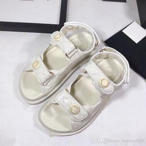 2020 magic stick white black cowskin leather platform lady fashion flat heel summer roman des sandals women casual shoes size 35-40