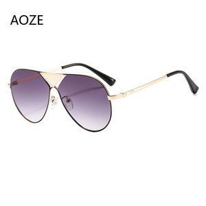 AOZE 2020 Fashion metal Pilot sunglasses men's designer sunglasses women's Casual vintage UV400