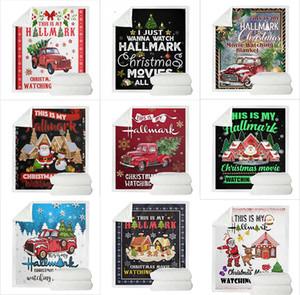 10 Стили Рождество Throw Пледы 3D Printed Sherpa Одеяло Дети Couch Covers TV Одеяло Soft Покрывала Толстые Quilts 150 * 130см M2438