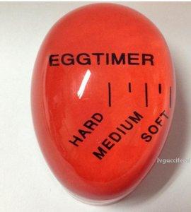 Uovo Volte Cambiare colore Timer Yummy morbida uova sode da cucina Timer da cucina Eco-Friendly Resina Egg Timer Red Tools