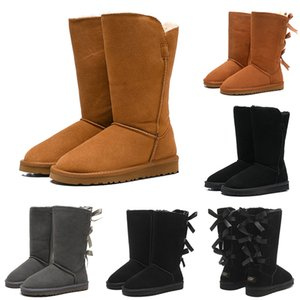 ugg uggs boots 2020 fashion Snow Winter Boots Classic Australian Women 3 Bailey Bowknot Tall Ladies Girl Booties Sobre la rodilla Muslo Botas altas 36-41