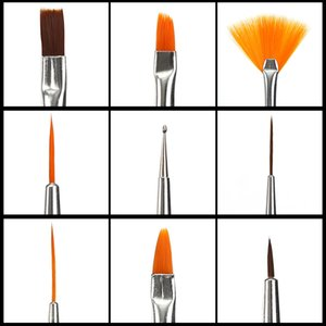 Nail Brush For Manicure Gel Brush For Nail Art 15Pcs Set Ombre Brush For Gradient Gel Polish Painting Drawing