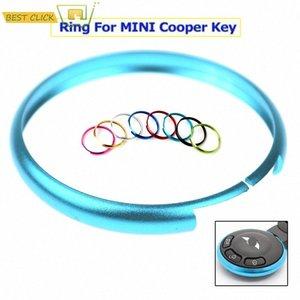 الذكية مفتاح فوب حلقة استبدال الدائري حالة لعام 2008 ما يصل ميني كوبر احد R55 R56 R57 R58 R59 R60 مواطنه Clueman كوبيه رودستر TCy2 #