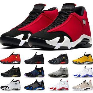 Nike Air Jordan 14 Retro Şeker Kamışı 14 s Erkekler Basketbol Ayakkabıları 14 Thunder DMP Çöl Kum Son Shot Siyah Ayak Tasarımcı Spor Eğitmeni Sneakers B ...