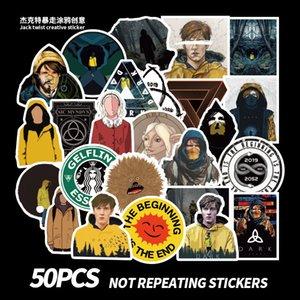 50 PCS Mixed Car Stickers Dark Season German Graffiti For Skateboard Laptop Pad Bicycle Motorcycle PS4 Phone Luggage Pvc guitar fridge Decal
