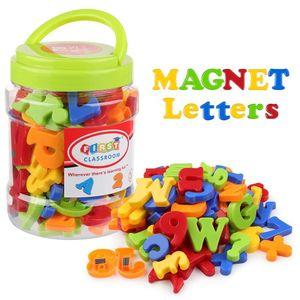 78pcs Plastik Renkli Manyetik dolabı Magnet Alfabe Harf Numarası Çocuk Bebek Çocuk Öğrenme Eğitim Oyuncak Mıknatıs Mektupları