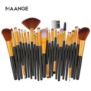 MAANGE 25 Pcs Professional Makeup Brush Set Beauty Foundation Powder Blush Eye shadow Blending Eyelash Concealer Makeup brush 20pcs lot DHL