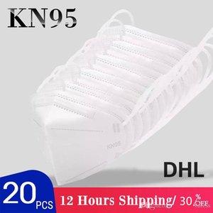 US stock 5 strati maschere fronte con la scatola antipolvere traspirante fronte mezzo mascherine Maschere Bocca riutilizzabile protezione DHL di trasporto FY0006
