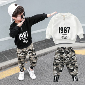 Kids Clothes for Boy Sportswear Camouflage Pants and Sweatshirt Tops Autumn Winter Casual Tracksuit Children Clothing Sets