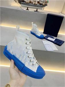 2020 Tuval Ayakkabı Kutusu Us ile B23 Yüksek Top Sneakers eğik 19ss Çiçekler Teknik Platform Ayakkabı Moda Açık Sneakers Ayakkabı 5-