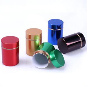 Caixa de armazenamento 480pcs / lot Mini caixa de jóias de plástico de alumínio do chá pode viajar portátil pequeno frasco recipiente pequeno café Caddy Organizador LX2490