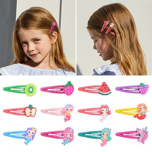 19Pcs Kid Girls Sweet Fruit Mermaid Unicorn Hairpin BB Hair Clip Barrettes Kids Hair Accessories Beautiful HuiLin C394