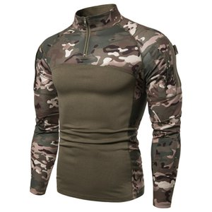 High Grade Quick Dry Military Army T-Shirt Men Long Sleeve Camouflage Tactical Shirt Hunt Combat Soldier Field T-shirts Outwear MX200611