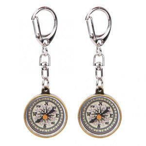 2PCS Vintage Portable Zinc Hiking and Camping Camping & Hiking Alloy Compact Pocket Compass Keychain for Outdoor Navigation Tools keyc mX26#