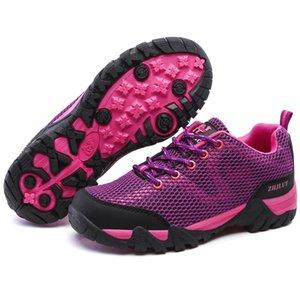 Montaña de las mujeres zapatillas de deporte cómodas amantes de los deportes al aire libre a pie de turismo de excursión los zapatos tamaño de las señoras Upstream sandalias Plus 36-47