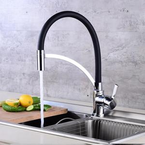 Todos Copper Kitchen Sink Faucet rotação de 360 ° Um furo Bacia Mixer Água da torneira