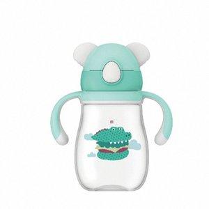 Wei Séoul infantile Sippy LUN Coupe Nursery incassable Poignée anti suffocation enfants de paille Coupe personnalisable 0I6c #