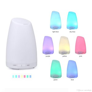 100ML Ultrasonic Aroma Essential Oil Diffuser Cool Mist Humidifier with 7 Colors LED Changing Lights, Waterless Auto Shut-off for Home