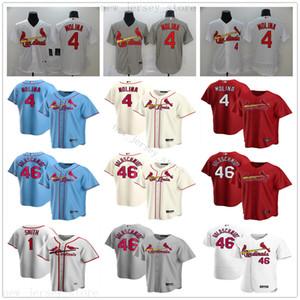 2020 nuevo estilo Estaciones de béisbol 4 Yadier Molina Jersey 46 Paul Goldschmidt 1 Ozzie Smith jerseys cosido Hombre Mujeres Jóvenes Niños