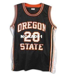 Homens Vintage Vintage # 20 Gary Payton Oregon State Beavers Jersey faculdade tamanho S-4XL ou personalizado qualquer nome ou número de camisa