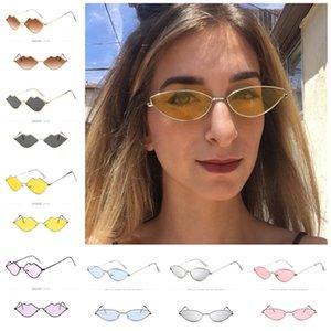 Fashion Cat Eye Sunglasses Metal Frame Cateye Sun Glasses Women Designer Retro Vintage Shade Ocean Lens Sunglasses Outdoor Beach Glasses INS
