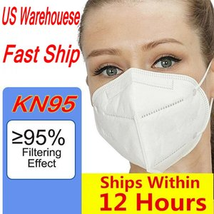 US Warehouse Stock! DHL Free Shipping Mask Available 5 Layer Mask Home Protection PM2.5 Face Mouth mask with Box