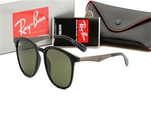Street Fashion Trend 2020 occhiali da sole donne Street Style Trendsetter rotonda di vetro di Sun degli uomini di moda RayBan