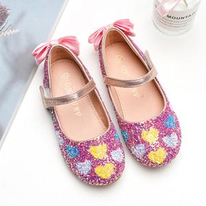Girls Ayakkabı Prenses Ayakkabı 2020 Yeni Stil Çocuk Ayakkabı Güzel Pullarda Çocuk Performans Kristal Ayakkabı