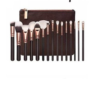 Make Up Brush Kit Cosmetic Beauty Makeup Brushes Suit Fiber Of Man Made Multi Color Wooden Pole Rose Gold Black 20 8gs B2
