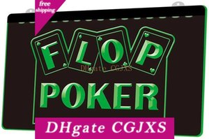 Ls1725 0 Flop Casino Poker Rgb múltipla Cor Remote Control 3d gravura Led Neon Light Cadastre Shop Bar Pub Clube