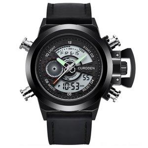 Mens es Fashion Leather Dual Time Digital wristwatch Wrist Mens es Fashion Leather Dual Time Digital wristwatch Wrist