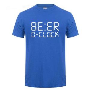 البيرة O CLOCK الشرب حزب نكتة T شيرت مضحك هدية عيد ميلاد للرجال أبي الأب بابا
