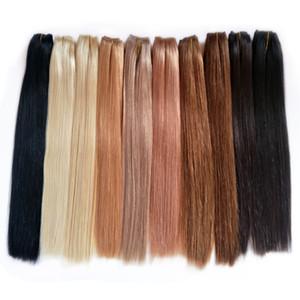 dhgate Human Hair Bundles Cuticle Aligned Virgin Hair Wholesalers Brazilian Indian Malaysian Peruvian Straight Remy Hair 20 Colors Available