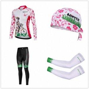 Conjuntos de alta qualidade mangas compridas Sports Ciclismo Roupas Multicolor Ciclismo Jersey para mulheres Corrida de MTB Jackets Braço mangas Caps v6z4 #