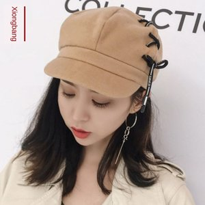 2019 New beret sweet rope dome Street duck Beret cap cap tongue hat elegant fashion all-match fashionable style