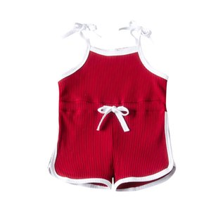 Baby Girls Clothes 1-6T Girl Toddler Sling Infant Rompers Jumpsuits 060714 Onesies 4 Colors Baby Infant Casual Kids Solid Sleevele Hqkih